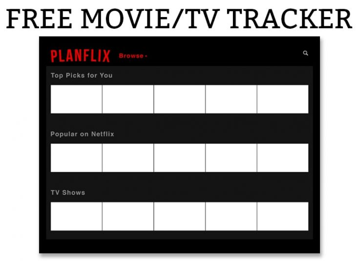Netflix Bullet Journal - Free Planner Movie & TV Tracker
