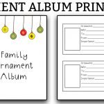Ornament Album Printables - Download these free printables to create your own family ornament album. Track all of the ornaments you receive and all of their details. #christmas #christmasprintables
