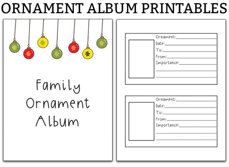 Family Ornament Photo Album