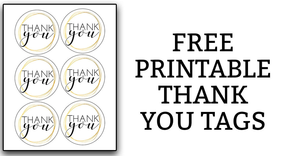 image about Thank You Gift Tags Printable titled Printable Thank By yourself Tags
