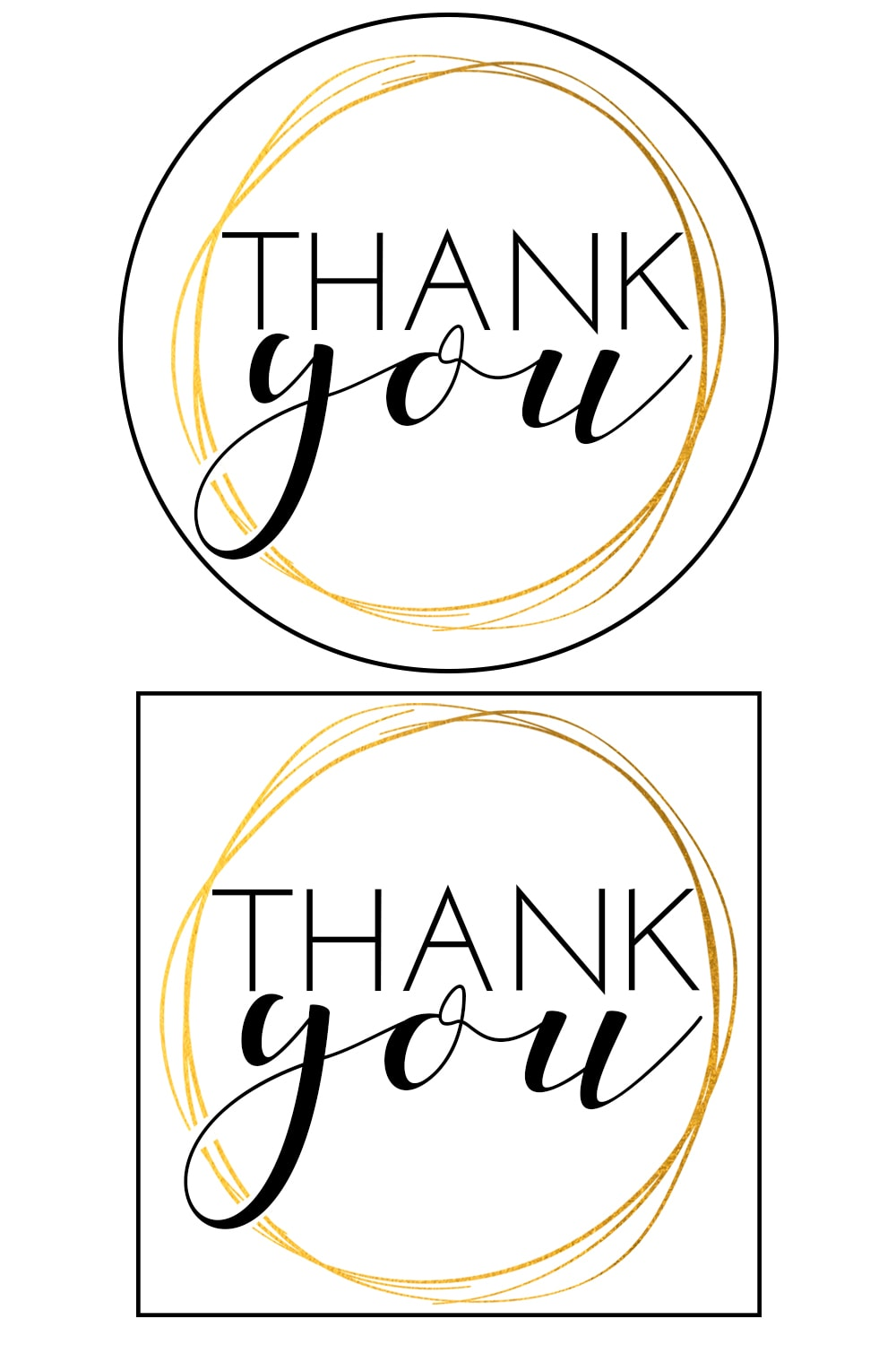 It is a photo of Delicate Thank You Tags Printable