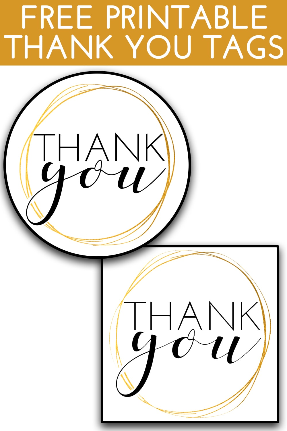 This is a picture of Printable Thank You Tags within construction