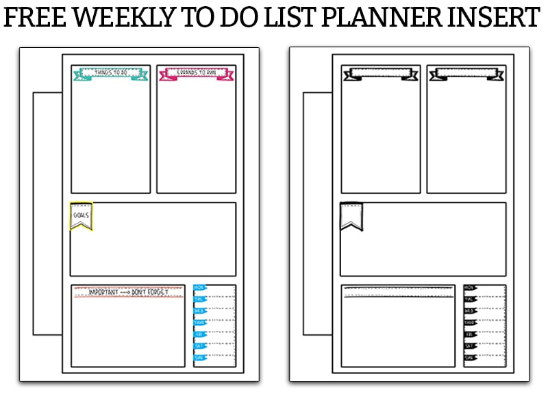graphic about Printable Weekly to Do List called Weekly Toward Do Checklist - Cost-free In the direction of Do Planner Printable