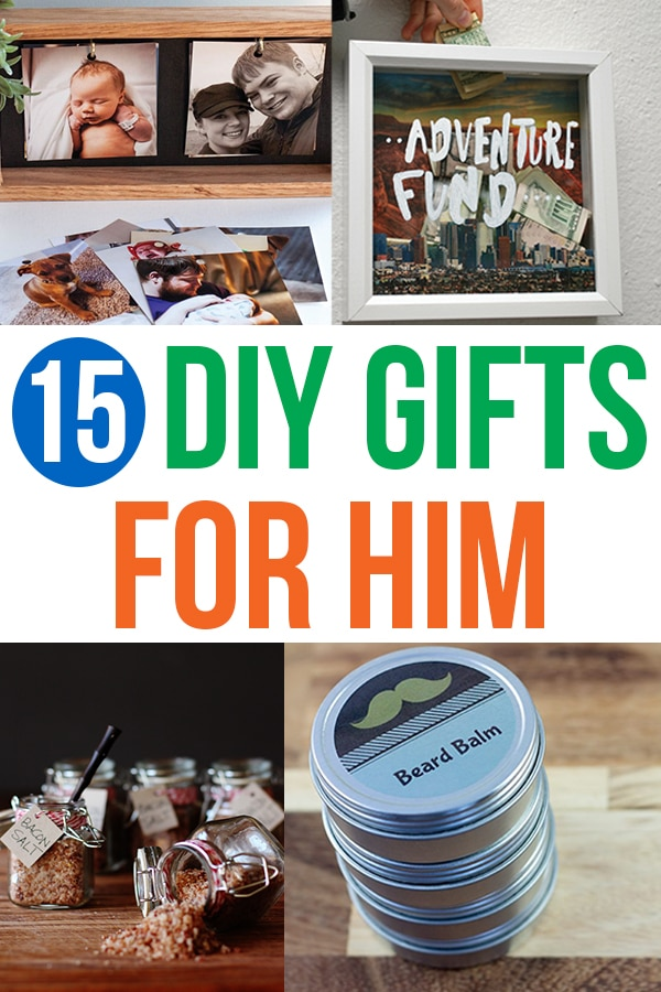 DIY Gifts for Him - want to make a special homemade gift for your boyfriend or husband? These gift ideas are perfect for Valentine's Day, your Anniversary, his birthday, and more! Give a special homemade gift to him this year. #giftideas #diy #craft