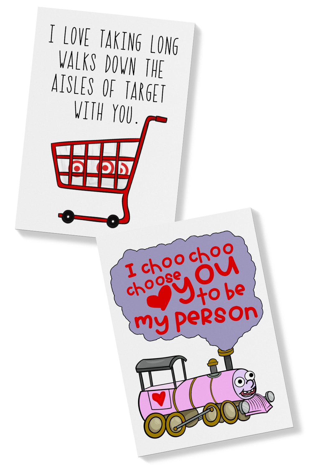 graphic regarding I Choo Choo Choose You Printable Card identify Humorous Playing cards for Friendship - Free of charge Amusing Playing cards for Close friends