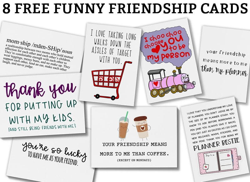 photograph about I Choo Choo Choose You Printable Card known as Humorous Playing cards for Friendship - Cost-free Humorous Playing cards for Pals