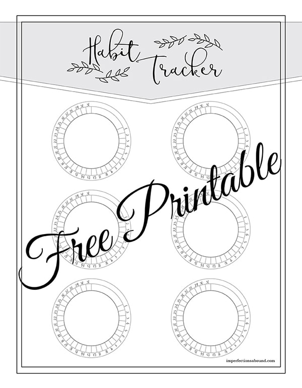 17 Of The Best Habit Tracker Printable Inserts