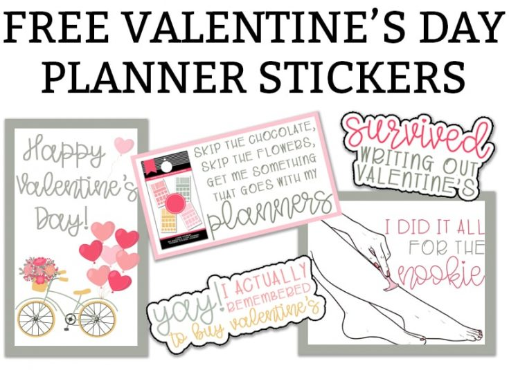 Valentine's Day Planner Stickers