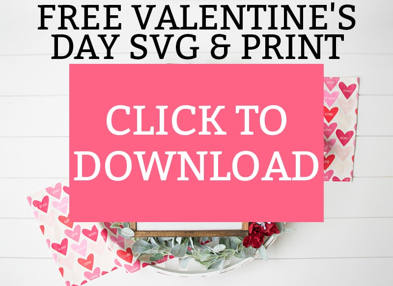 Valentine's Day SVG. Download this free Valentine's Day SVG file and Valentine's Day free print! It makes a great DIY Valentine's day gift, Anniversary Gift, and more. This romantic quote can be used anytime of the year. #freesvg #freesilhouettefile #valentinesday