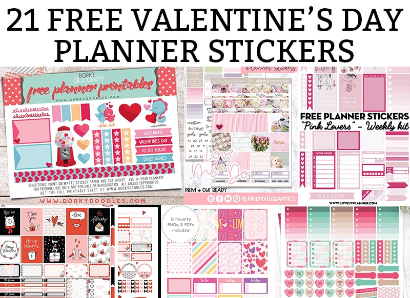 Valentines Day Stickers Free Valentine Printables For Your Planner