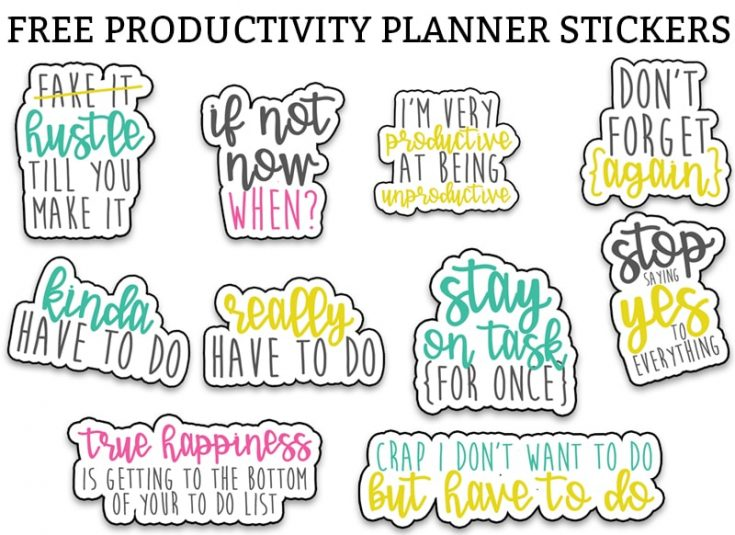 Sarcastic Productivity Planner Stickers - Funny To Do Planner Stickers