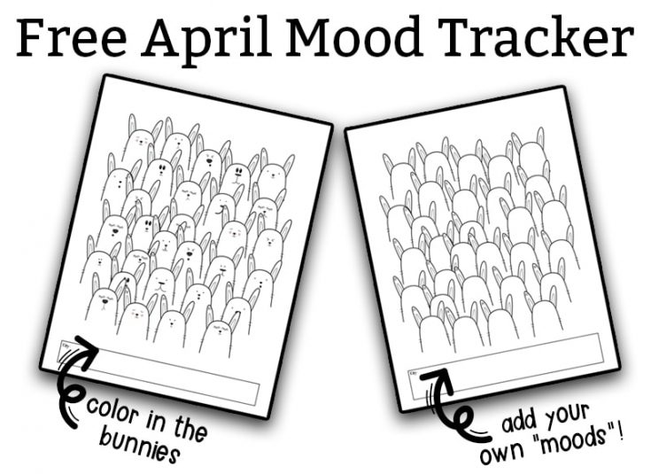 Free April Mood and Habit Tracker