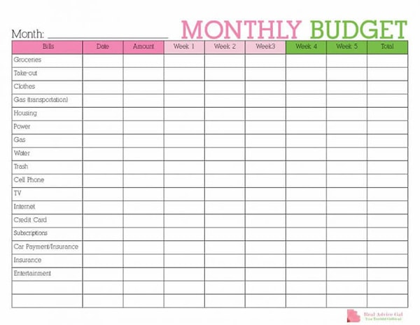 picture regarding Budget Printables Free titled Free of charge Price range Printables - Just take Support with your Spending budget Presently