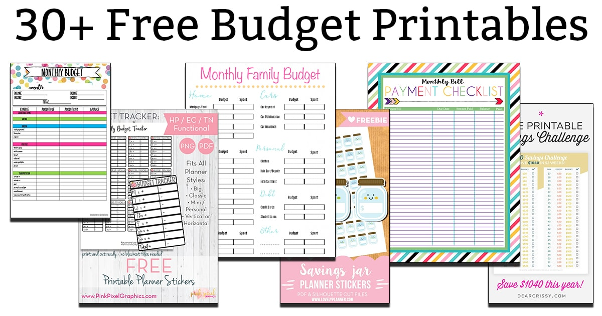photograph about Budget Printables Free named Absolutely free Price range Printables - Get hold of Assist with your Funds These days