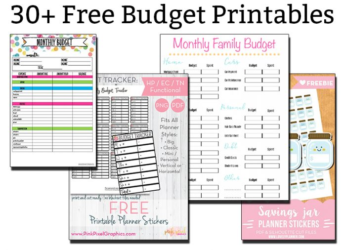 Mesmerizing image throughout budget planner printables