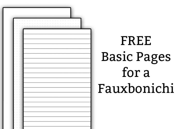 Free Fauxbonichi Printables - Free Printables to Create your Own Fauxbonichi