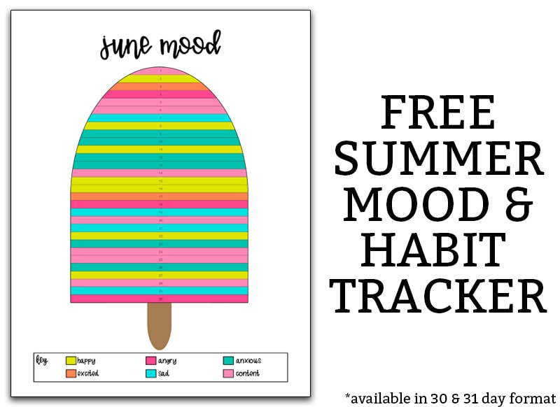 photo regarding Free Mood Tracker Printable identify Free of charge Summertime Temper Tracker and Behavior Tracker