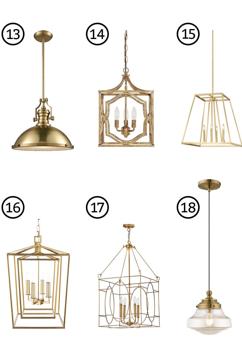 The Best Gold Kitchen Island Lights - Brass is Back in the ...
