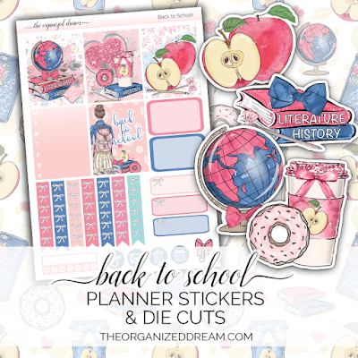 Back to School Planner Stickers and Die Cuts
