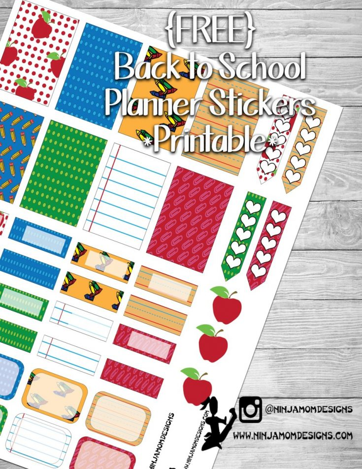 {FREE} Back to School Planner Sticker Printable