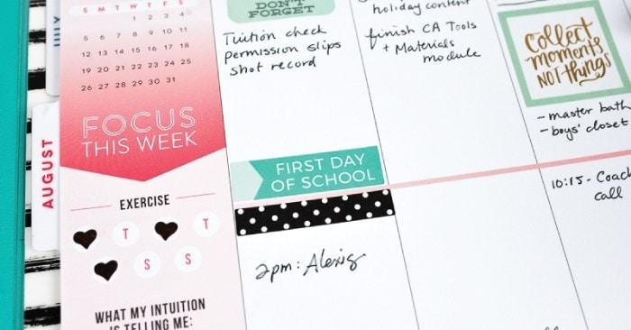 School Planner Stickers + Beginner Planner Tips