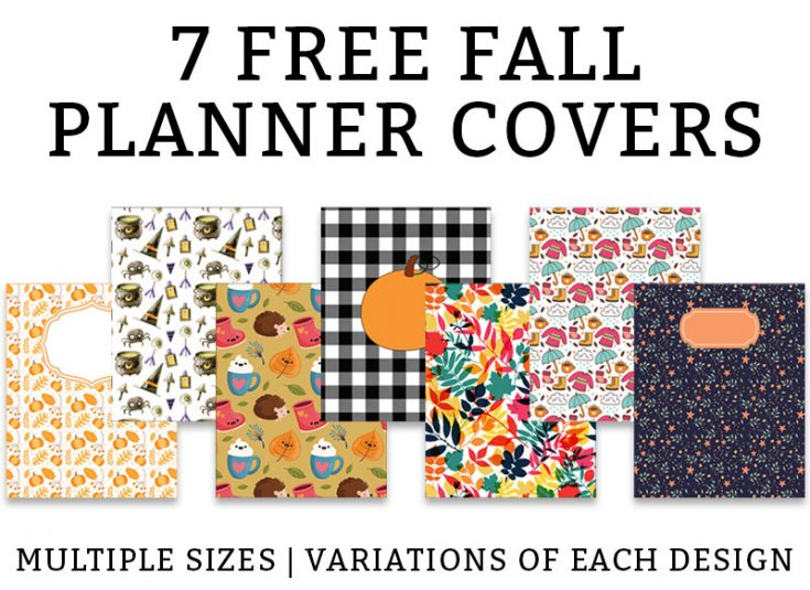 Fall Binder Covers and Free Fall Planner Covers