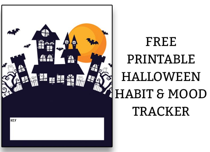 Free Halloween Habit Tracker and Mood Tracker - Haunted House
