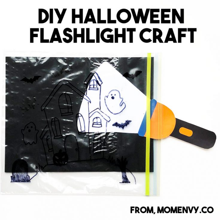 Halloween Flashlight Craft for Kids
