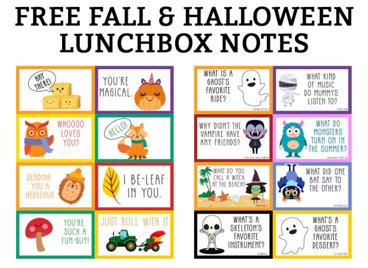Halloween Lunch Notes