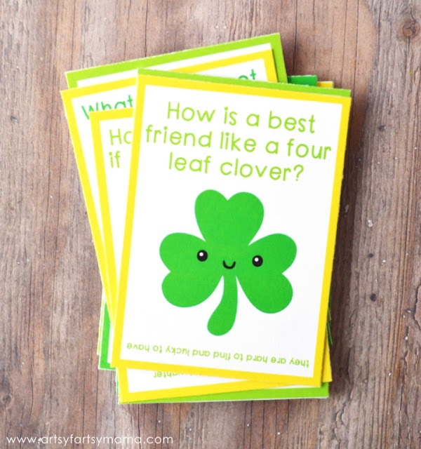 Free Printable St. Patrick's Day Lunch Box Jokes