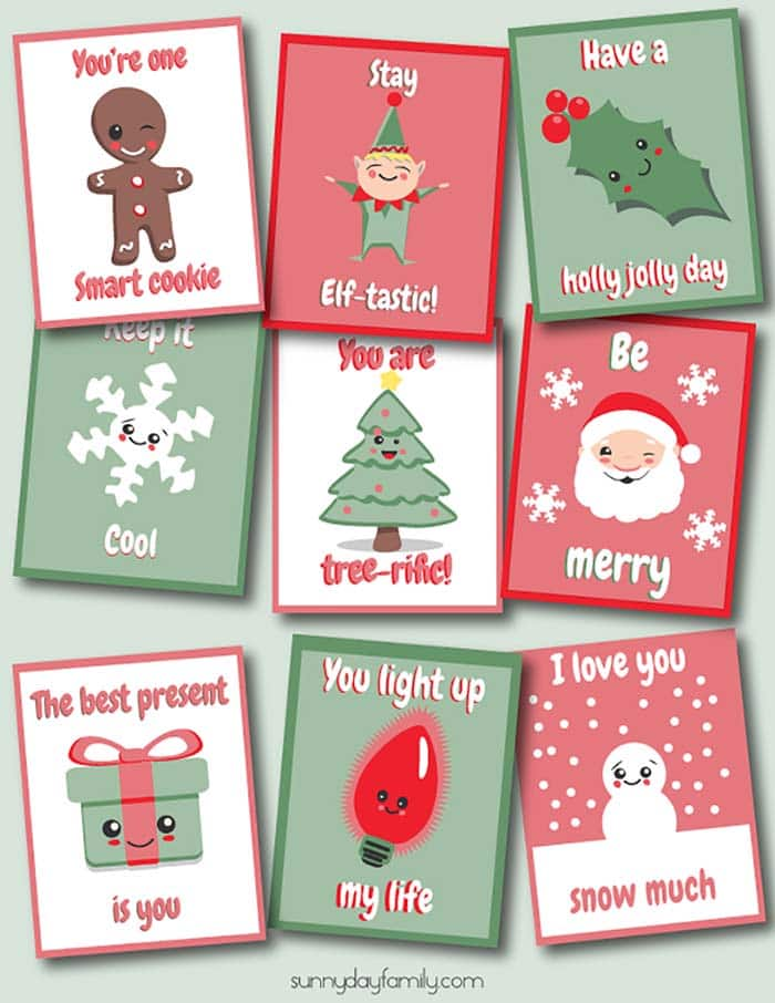 9 Free Printable Christmas Lunchbox Notes Kids Will Love