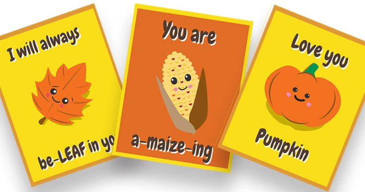 Cute Thanksgiving Lunch Box Notes for Kids | Free Printable