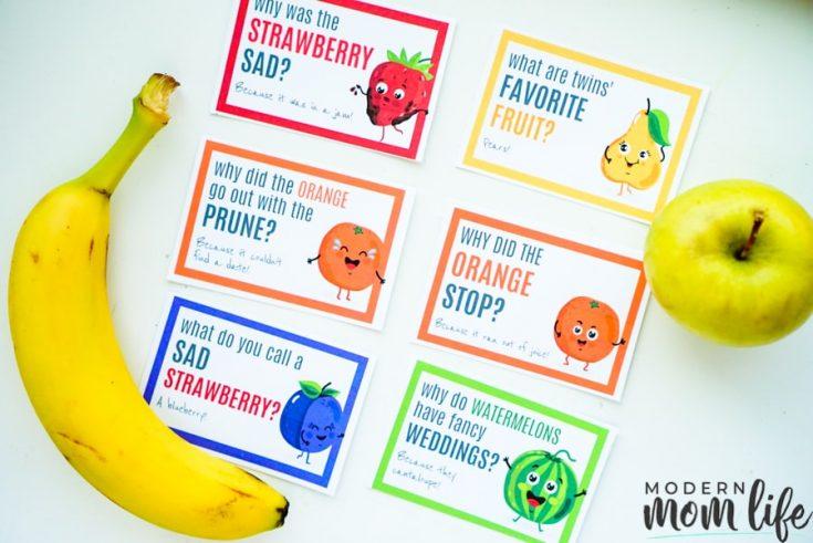 Printable Lunchbox Jokes for Kids