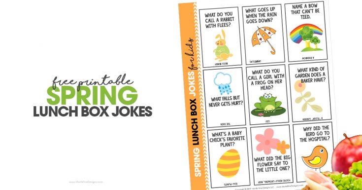 Spring Lunchbox Jokes | Free Printable Download