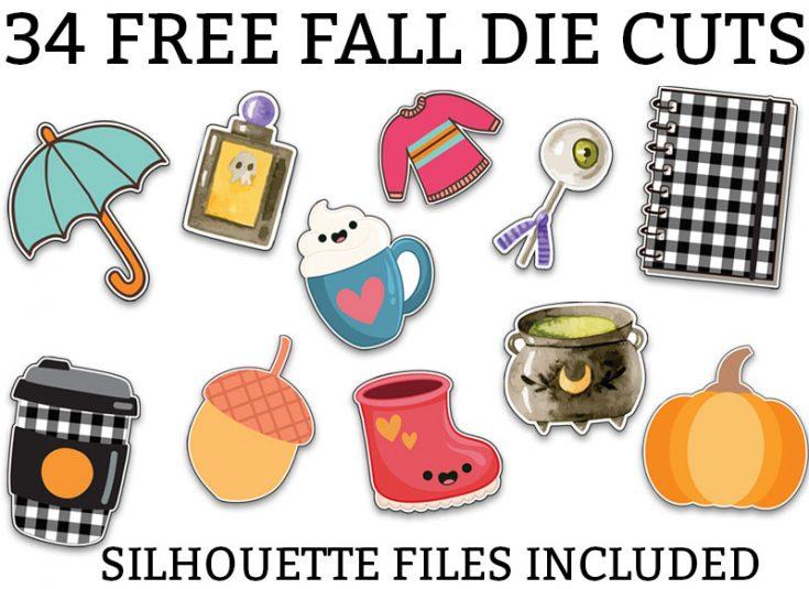Free Fall Die Cuts - 34 Different Fall Planner Die Cuts