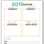 2019 Year in Review Printable