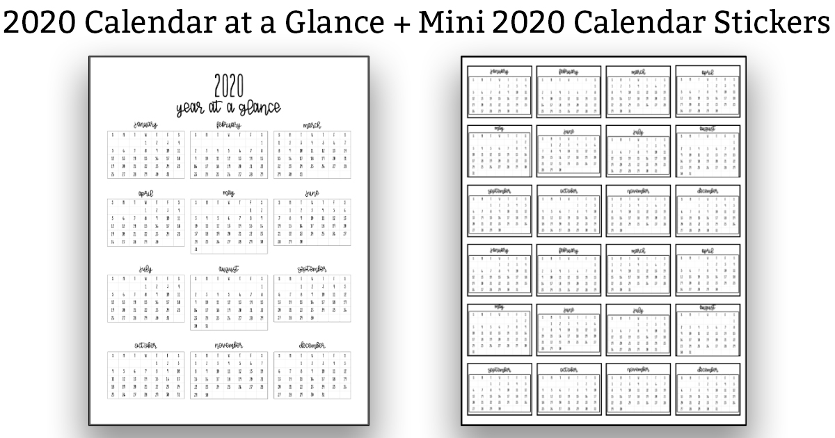 It is an image of Hilaire 2020 Year in Review Printable