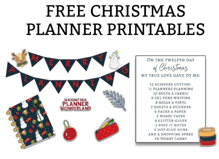 Christmas Planner Display Printable Pack