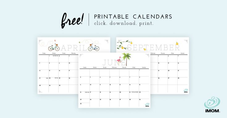 2020 Crafty and Cute Printable Calendar for Moms - iMom