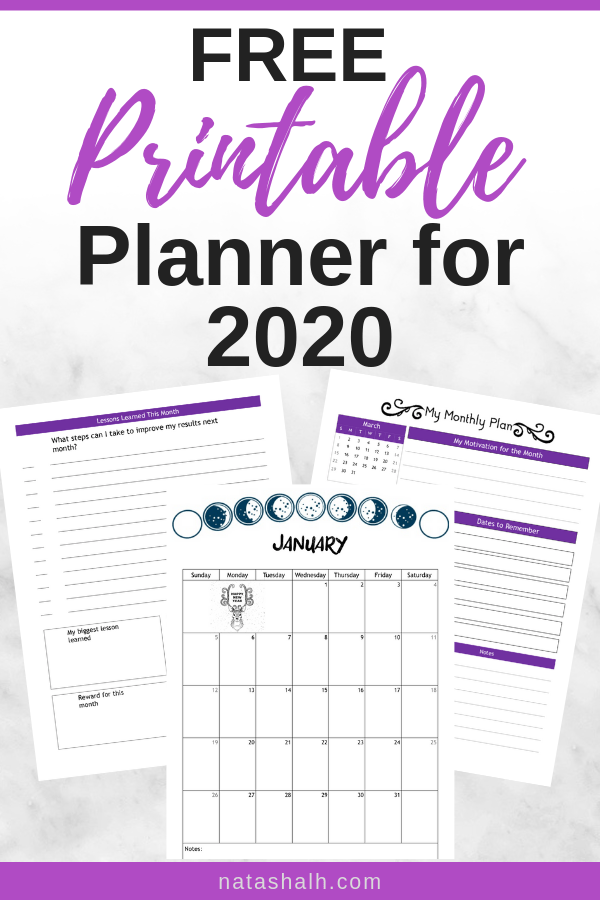 Free Planner Printables for Your Best Year 2020 & 2019