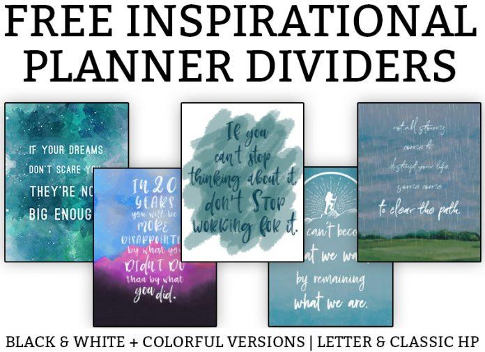 Planner Dividers Printable