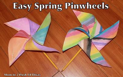 Spring Craft: Easy Kid's Pinwheel!