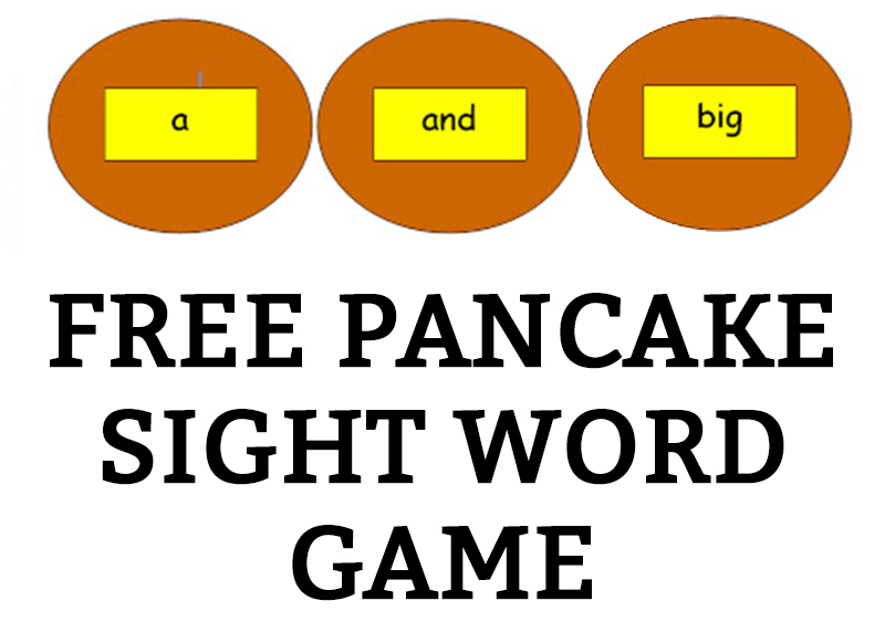 Free pancake sight word game