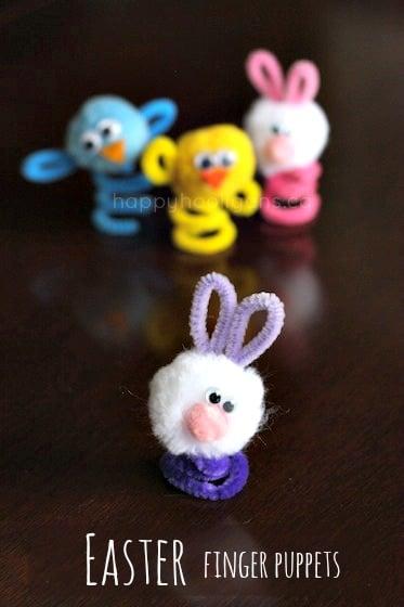 Easy Easter Finger Puppets for kids