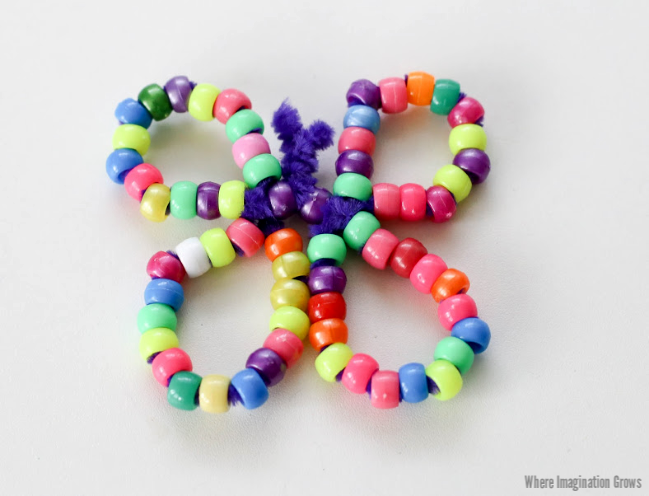 Pipe Cleaner and Pony Bead Butterfly Craft for Kids!