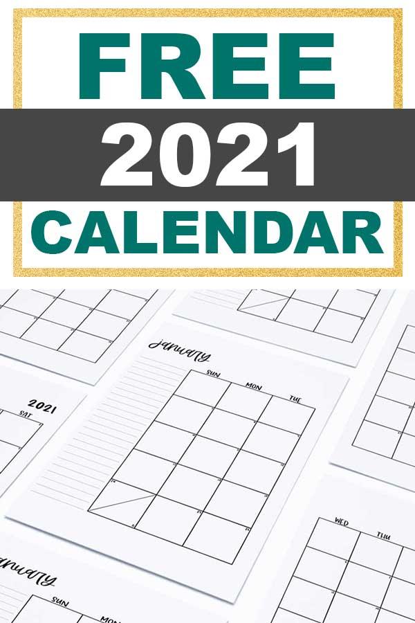 Free-2021-Simple-Calendar-Elegant-Pin - Mom Envy